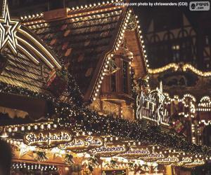 Puzzle Lumières de marché de Noël
