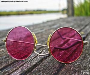 Puzzle Lunettes de soleil roses