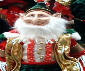 Puzzle Lutin de Noël avec des oreilles pointues et chapeau pointu