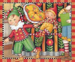 Puzzle Lutins de Noël