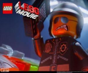 Puzzle Méchant Flic, le mauvais policier, l'officier de police du film Lego