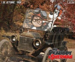 Puzzle M. Peabody et Sherman dans son voyage jusqu'en 1908