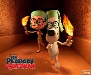 Puzzle M. Peabody et Sherman dans l'une de leurs aventures en Égypte