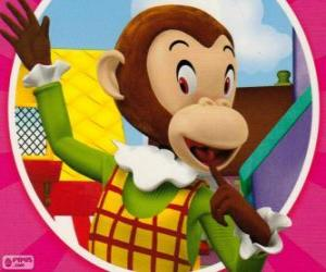 Puzzle Mademoiselle Ouistiti fait des blagues aux autres jouets