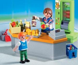 Puzzle Magasin Playmobil