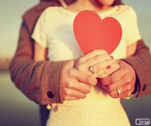 Puzzle Mains et coeur