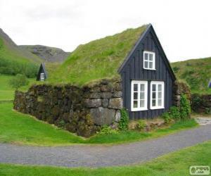 Puzzle Maison Viking, Islande