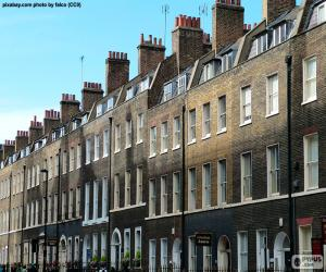 Puzzle Maisons typiques de Londres