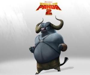 Puzzle Maître Bœuf Ravageur est le meilleur élève de Maître Rhino Foudroyant. Ses cornes sont son arme meurtrière