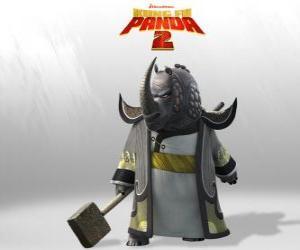 Puzzle Maître Rhino Foudroyant est le plus vénéré de tous les maîtres de Kung Fu du Conseil