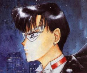 Puzzle Mamoru Chiba devient le héros Tuxedo Kamen, un homme masqué vêtu de queues