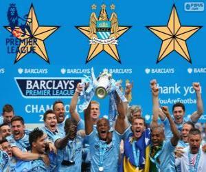 Puzzle Manchester City, champion de Premier League 2013-2014, Ligue de Football d'Angleterre