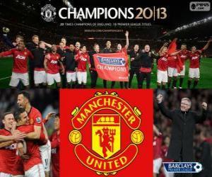 Puzzle Manchester United, champion Premier League 2012-2013, Ligue de Football d'Angleterre