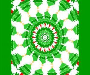 Puzzle Mandala avec décorations de Noël