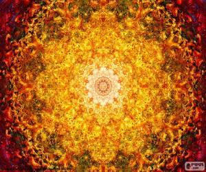 Puzzle Mandala de fleurs de la vie