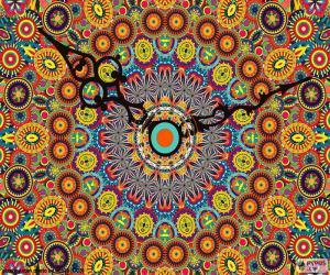 Puzzle Mandala, horloge