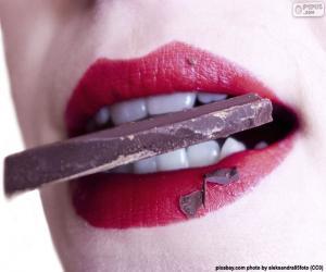 Puzzle Manger du chocolat