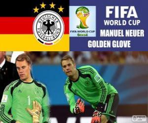 Puzzle Manuel Neuer, gant d'or. Coupe du monde de Football Brésil 2014