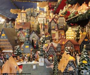 Puzzle Marché de Noël, ornements