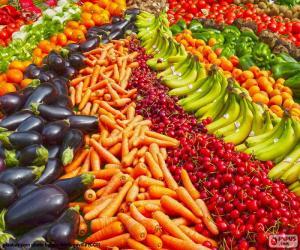 Puzzle Marchand de légumes