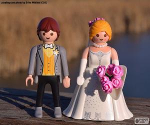 Puzzle Mariée et marié de Playmobil