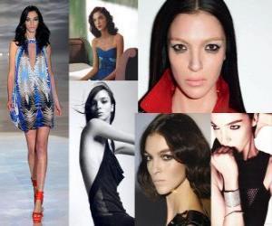 Puzzle Mariacarla Boscono est un modèle italien