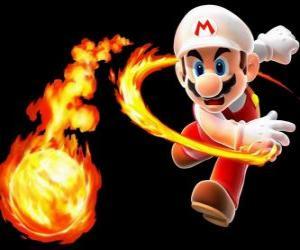 Puzzle Mario à lancer une boule de feu