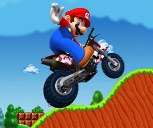 Puzzle Mario Bros sur une moto