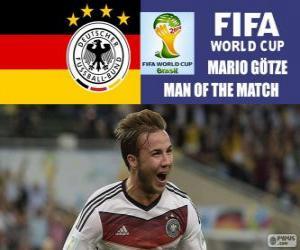 Puzzle Mario Götze, meilleur joueur de la finale. Coupe du monde de Football Brésil 2014