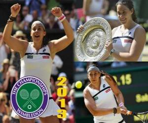 Puzzle Marion Bartoli championne du Wimbledon 2013