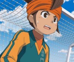 Puzzle Mark Evans ou Endo Mamoru, le gardien de l'équipe de football du Collège Raimon et principal protagoniste de la série Inazuma Eleven