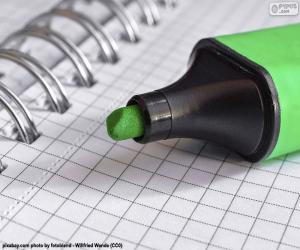 Puzzle Marqueur vert