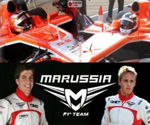 Puzzle Marrussia F1 Team 2013