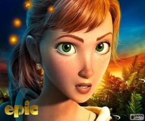 Puzzle Mary Katherine, une adolescente qui vit des aventures dans un monde fantastique