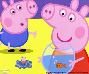Puzzle Mascotte de Peppa Pig