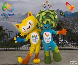 Puzzle Mascottes olympiques de Rio 2016
