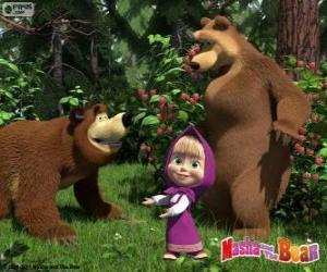 Puzzle Masha avec les deux ours
