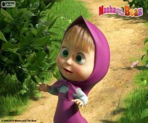 Puzzle Masha, la petite fille, le personnage principal de Macha et l'ours