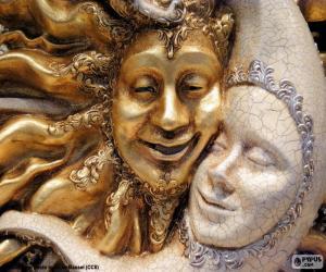 Puzzle Masque du soleil et la lune