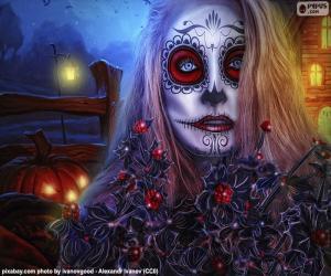 Puzzle Masque gotique d'Halloween