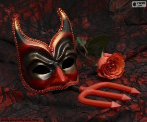 Puzzle Masque mystérieux de carnaval