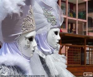 Puzzle Masques blancs