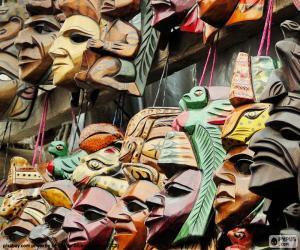 Puzzle Masques mayas