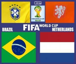 Puzzle Match pour les 3e place, Brésil 2014, Brésil vs Pays-Bas