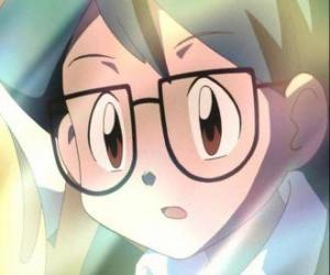 Puzzle Max apparaît comme un compagnon de Ash Ketchum, est aussi le frère cadet de Mai et a rejoint le groupe Ash, Brock Mai et éleveur de Pokémon.