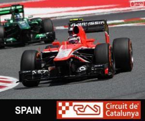 Puzzle Max Chilton - Marussia - Circuit de Catalunya, Barcelone, 2013