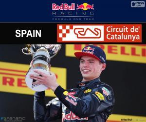 Puzzle Max Verstappen, G.P. Espagne 2016