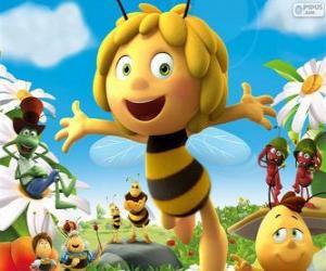 Puzzle Maya l'abeille et autres caractères