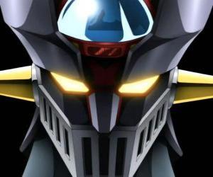 Puzzle Mazinger Z, tête des gigantesque Super Robot, principal protagoniste des aventures dans la série manga Mazinger Z