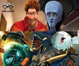 Puzzle Megamind et Titan dans une bagarre